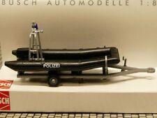 1/87 Busch Polizei-Boot mit Motor und Aufbau auf Trailer
