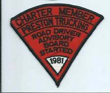 Preston Trucking road driver advisory bd started 1981 driver patch 4X4-1/2 #1497