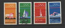 Bundespost ALLEMAGNE 1972 Jeux Olympiques de Munich 4 timbres oblitérés /T3350