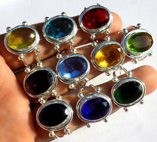 Mix Gems Wholesale Lot 10Pc 925 Sterling Silver Overlay Ring New Fashion