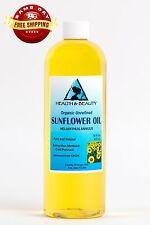 Sunflower Oil Unrefined Organic by H&b Oils Center Cold Pressed Pure 16 Oz