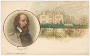 1900s Alfred Lord Tennyson -Huld Authors Series 1900s Postcard