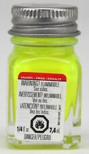 Testors 1/4 oz Fluorescent Yellow Enamel Model Paint 1177TT TES1177