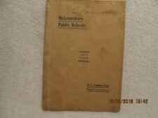 1903-1904 Book McLeansboro IL Public Schools Signed by Supt. W.C. Fairweather
