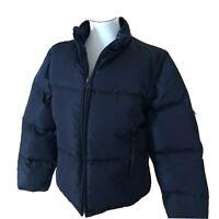 J. Crew Black Puffer Down Convertible Coat Zip Off Sleeve Vest 2-in-1 Med