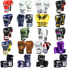 FAIRTEX BOXING GLOVES MUAY THAI LEATHER MMA YOKKAO BUAKAW KICKBOXING OUNCE RAJA