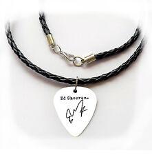 ED SHEERAN Signature Guitar Pick Plectrum necklace bracelet keyring Earrings pin