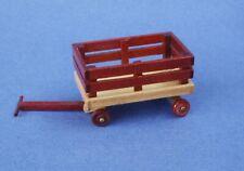 Miniature Dollhouse Wood Wagon 2 Tone 1:12 Scale New