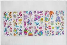6 Sheets 3d Animation Mermaid Paper Crafts Sticker Lot- Kids School Reward Gift