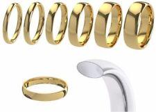 Anillos de joyería de metales preciosos sin piedras de oro amarillo de 9 quilates de boda