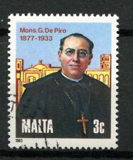 Malta 1983 Sg # 718 monisnor Giuseppe De Piro Cto utilizado #a 29101