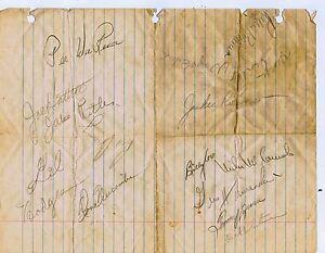 1949-1950 Brooklyn Dodgers Team Signed Vintage Paper 15 Auto Jackie Robinson JSA