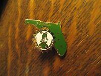 WBA Women's Bowling Alliance Florida State USA Ball Gold Green Lapel Hat Pin