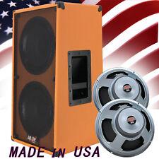 2x12 Vertical Guitar Speaker Cabinet Beauty Orange W/Celestion Seventy 80 Spkrs