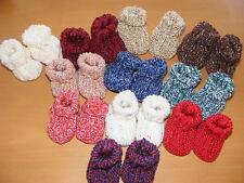 Markenlose Baby-Schuhe mit Strick/Gehäkeltem