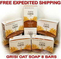 GRISI OAT AVENA NATURAL SOAP Balancing 3.5 oz Scent Bar Hand Face Jabon 8 Pack