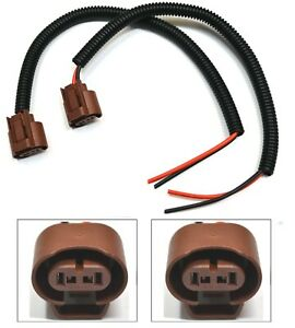 Extension Wire Pigtail Female U 9006 HB4 Two Harness Fog Light Connector Socket