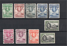 GOLD COAST  Côte d'Or 1938 - 41 Georges VI 10 timbres