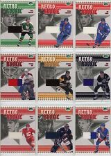 2003-04 Parkhurst Retro Rookie Complete Set of 20 Jersey Cards