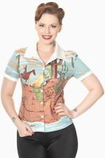 Collared Blouses for Women 90s Theme