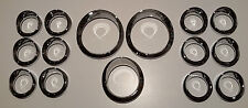 Kenworth Chrome Gauge surround kit.  2x Speedo,1x Pyro,12x Small surrounds
