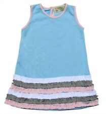 Gardening Bear Dress w/ Ruffle Detail on Hem (GBRD-12), Size: 4 (for 3-4 y/o)