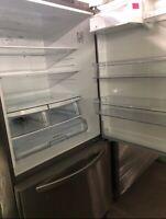 "LG LDCS24223S 33"" Refrigerator Open Box BOTTOM FREEZER"