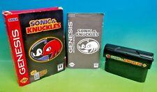Sonic & Knuckles - Sega Genesis Complete Rare Game Box & Manual Hedgehog