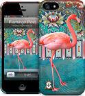 "Hard Case -  iPhone 5, 5S.""Flamingo Post "" exotic, retro / vintage style"