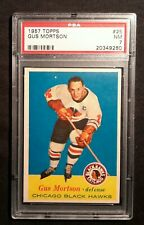 1957 57-58 Topps Gus Mortson (25) Chicago Black Hawks PSA 7 NM Centered