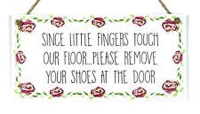 Dado que poco dedos táctil nuestro piso elimina Zapatos Placa de Madera Señal De Regalo
