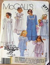 McCall's Little girls sleepwear Sewing Pattern no. 2777