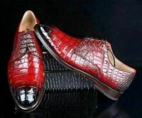 Chaussures habillées à lacets derby en cuir véritable marron clair pour hommes