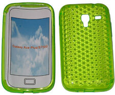 Per SAMSUNG GALAXY ACE PLUS GT S7500 PATTERN Gel Custodia Protettiva Cover GREEN NEW