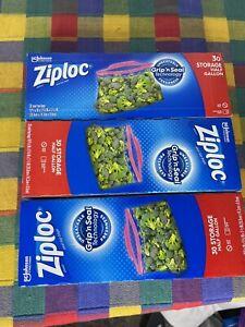 RARE DISCONTINUED Ziploc 1/2 Half Gallon Marinade Bags - 3 boxes - Bundle Lot