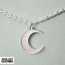 SILVER MOON Kette Mond Halskette Sailor silbern necklace Acryl Hipster Halbmond