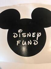Mickey Ears Disney Fund Vinyl Decal Disney Text