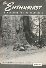 1953 August - The Enthusiast - Vintage Harley-Davidson Motorcycle Magazine