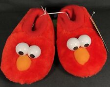 Elmo Toddler Plush Puppet Sock Slippers Sesame Street Girls Boys Size 9/10 Nwt
