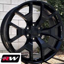 24 x10 inch Chevy Tahoe OE Replica Honeycomb Wheels Gloss Black Rims 6x139.7 +31