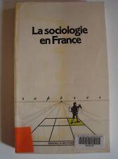 Livre la sociologie en France collection Repères
