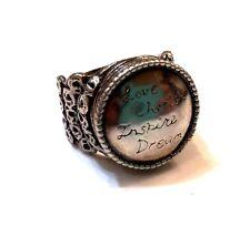 """Rare! Silpada Sterling Silver """"Love, Cherish, Inspire, Dream"""" Ring, Size 6 R2821"""