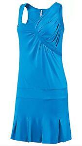 ADIDAS ADILIBRIA ANA IVANOVIC RARE TENNIS DRESS SIZE SMALL AQUA BLUE ATHELIC