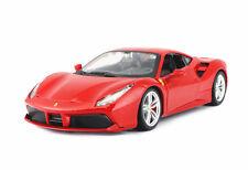 Bburago 1:24 Ferrari 488 GTB Diecast Model roadster Car Red