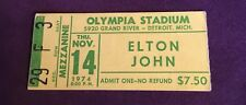 ELTON JOHN concert ticket stub--11/14/74 Olympia Stadium Detroit