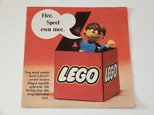 VINTAGE LEGO 1974 CATALOG FOLDER 'HEE SPEEL EVEN MEE' DUTCH