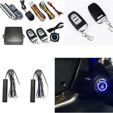 Car Alarm System Keyless Entry Engine Start Push Button Vibration Remote Starter