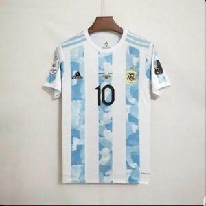 Argentina Home Shirt 2021 Copa América Champions Size M