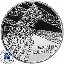 Alemania 10 euro 17. junio 1953 levantamiento popular 2003 espejo brillo plata-moneda