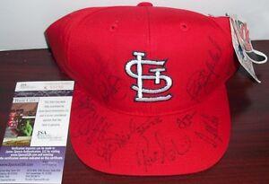 ST. LOUIS CARDINALS TEAM SIGNED CAP HAT Darryl Kile (d. 2002) Matheny LaRussa